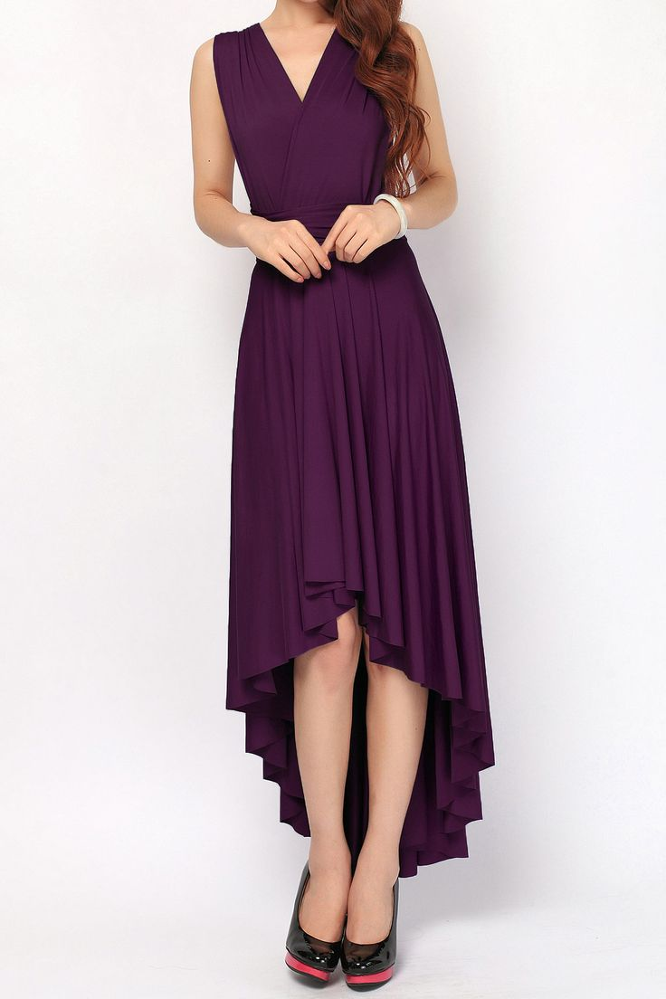 Eggplant High Low Convertible Infinity Dress Bridesmaid Dress [hl-17] - $49.50 : Infinity Dress | Convertible Dress Bridesmaid Dresses Online, TinnaInfinityDress