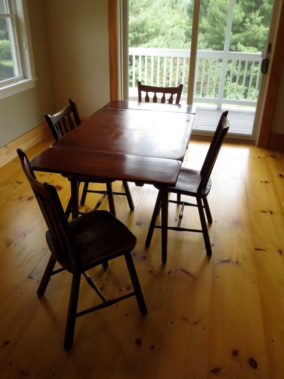 Cushman Colonial Creations Maple Dining Table W/ 2 By OldGoodShop, $350.00