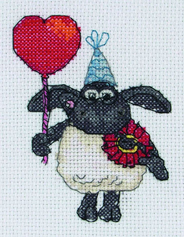 A perfect little present for Valentine's Day, Timmy the Sheep is here with love to complete in this cross stitch kit from Anchor. A fully affec...