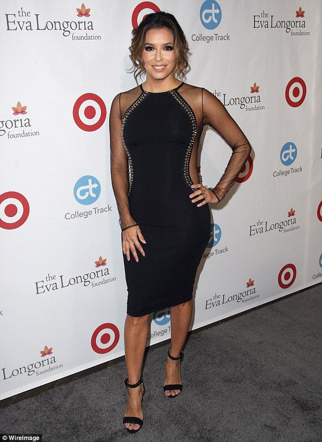 Beauty in black! Eva Longoria made a showstopping appearance when she hosted her own Eva L...