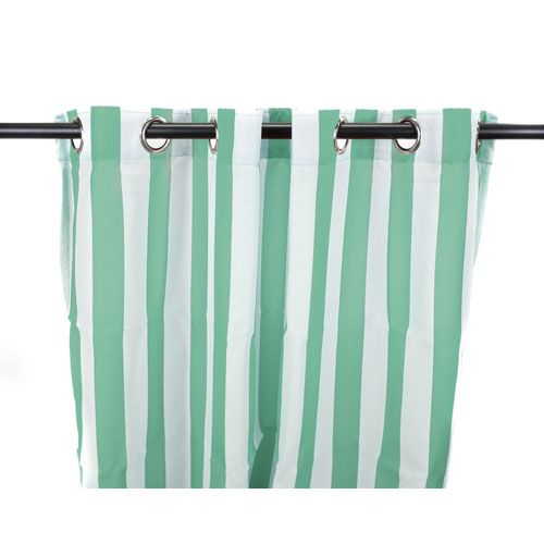 Outdoor Curtains 54-Inch x 84-Inch Spa Stripe Polyester Outdoor Curtain