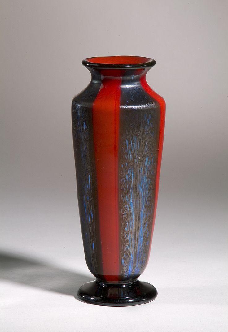 1138 best art glass tiffany images on pinterest tiffany lamps samian red favrile blown glass vase by tiffany studios tall x diameter reviewsmspy