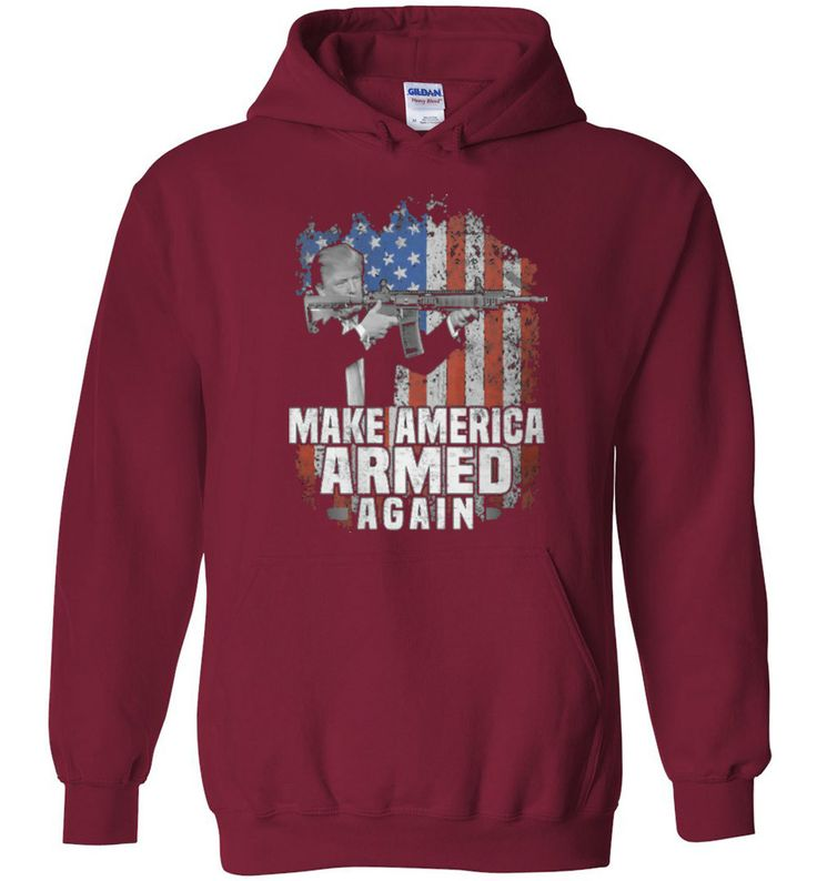 Heavy Blend Hoodie T-shirt Make America Armed Again- Tshirt online for Men's - Independence Day 2nd Amendment T-shirt Online