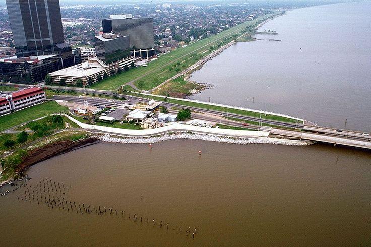 """* Ponte do Lago Pontchartrain * """"Lake Pontchartrain Causeway South"""". # Metaire, Louisiana. USA. Comprimento: 38,422 Km. É a 2ª Ponte mais extensa do Mundo."""