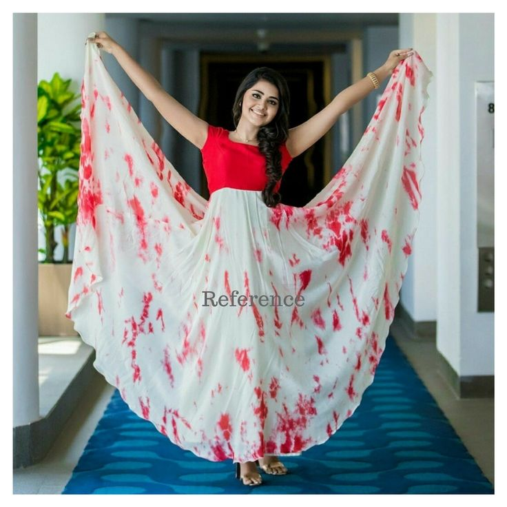 Satin shibbori with designer blouses. Can be user for long frocks and croptops