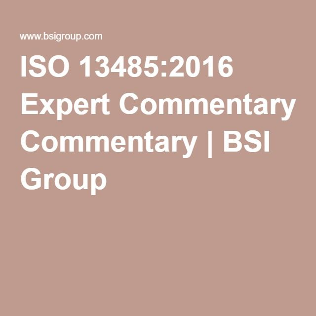 ISO 13485:2016 Expert Commentary | BSI Group