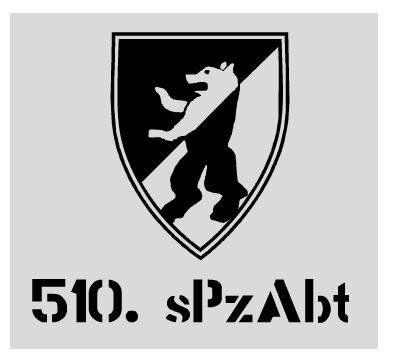 Aufkleber 510. sPzAbt / mehr Infos auf: www.Guntia-Militaria-Shop.de