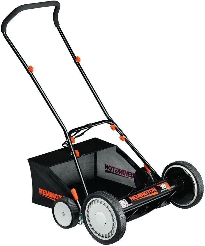 18 In. Walk-Behind Nonelectric Manual Push Reel Lawn Grass Mower With Bagger #Remington