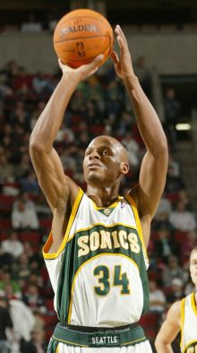 Ray Allen... Before he was a follower and chump. Still a great player, but chump. He needs Jesus.