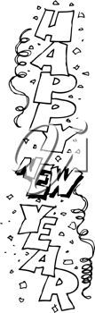 iCLIPART  Royalty Free Clipart Image of Happy New Year