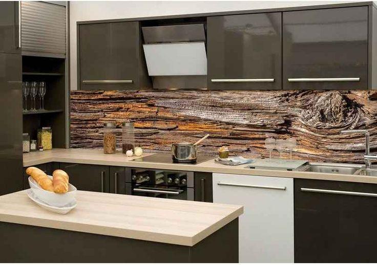 DIMEX | KI-260-062 Fototapeta do kuchyně Kůra stromu | 260 x 60 cm | hnědá