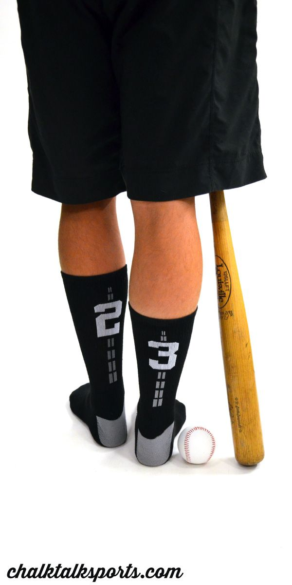 These woven baseball socks are a great gift for any baseball player to wear while practicing! Only from ChalkTalkSPORTS.com!