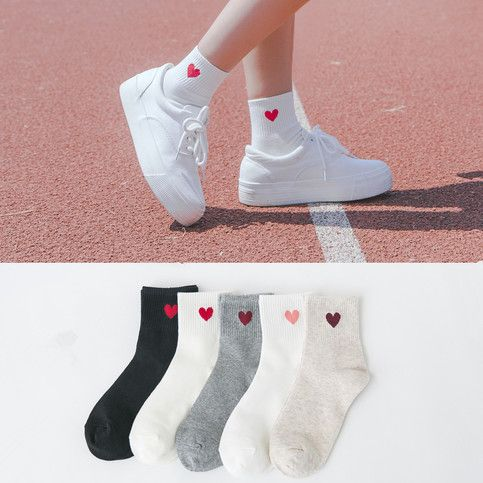 Harajuku Heart Design Socks from pennycrafts