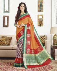 Orange Color Bhagalpuri Casual Wear Sarees : Adika Collection  YF-42953