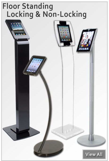 Improve your booth setup with our iPad stands for #tradeshows!