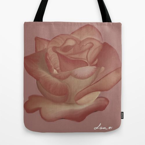 Elegante Pink Rose Tote Bag