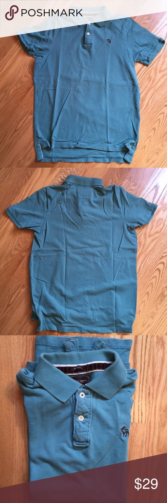 Abercrombie men's short sleeves polo shirt In great condition, 100% cotton. Turquoise color Abercrombie & Fitch Shirts Polos