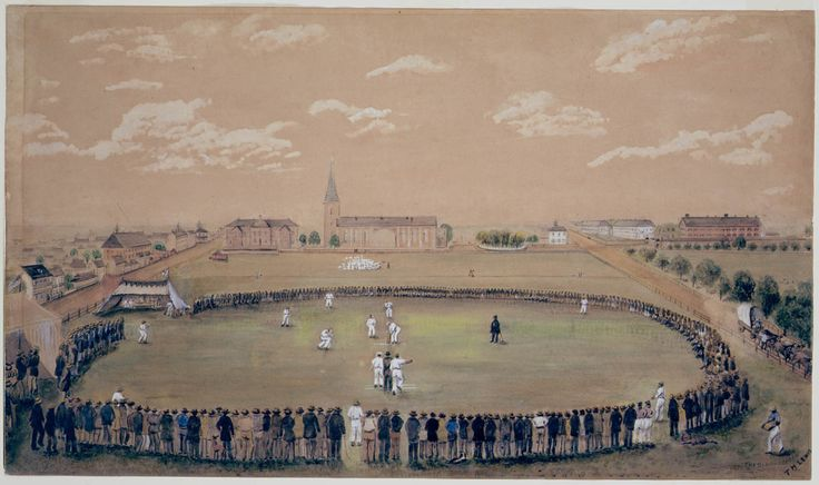 Thomas H. Lewis, Hyde Park - the old days of merry Cricket Club matches, ca. 1870. Dixson Galleries, State Library of New South Wales: http://www.acmssearch.sl.nsw.gov.au/search/itemDetailPaged.cgi?itemID=423726