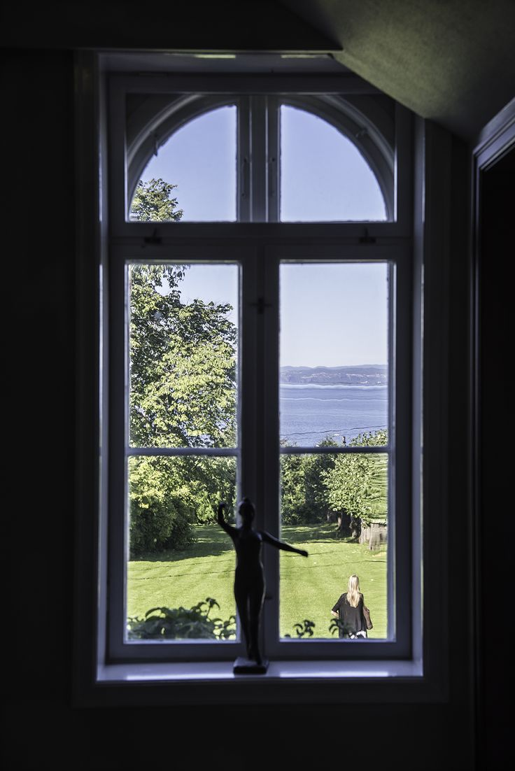 Seaview from the hotellvindow. Hotell Refsnes Gods, Visit Oslofjord, Visit Østfold, Dehistoriske, Norway, Summer