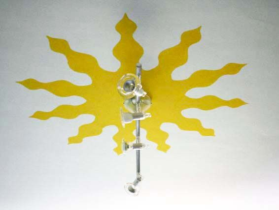 "[ Murale ""Jungla Indiana"", dettaglio sole, 2008, by Bettole d'Incanto ] #Mural #Sun #Ceiling #Handmade #BettoleDIncanto"