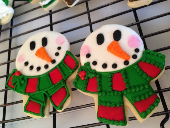 Christmas Cookies Festive Snowman on Etsy, $36.00