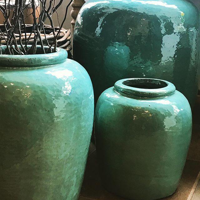 Vietnamese celadon glazed pots. #26kloofnekroad #cecileandboyd #253floridaroad #celadon #pots #decor #interiors #homeware #shoponline