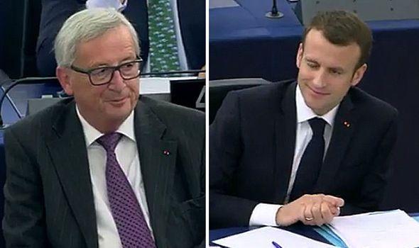 Emmanuel Macron and Jean-Claude Juncker