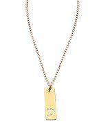 Miriam Merenfeld Extra Small Vertical Bar Initial Pendant Necklace