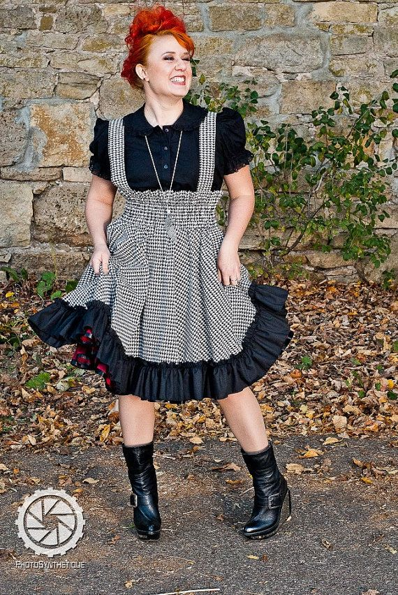 Plus Size Jumper Hounds Tooth Retro Style Lolita by KMKDesignsllc, $135.00