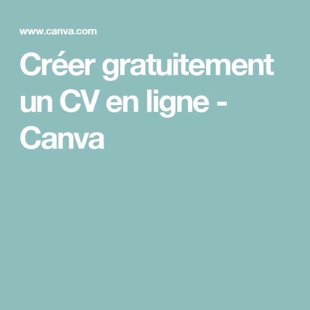 the 25  best cv en ligne ideas on pinterest