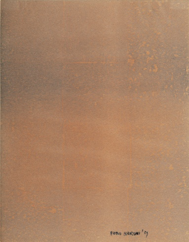 Piero Manzoni, Impronta sughero, carta vellutata pressata, 23 X 17, non numerata