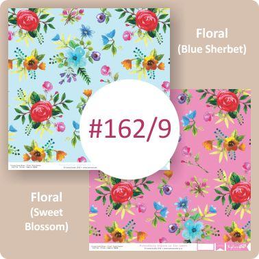 Floral Blue Sherbet/Floral Sweet Blossom