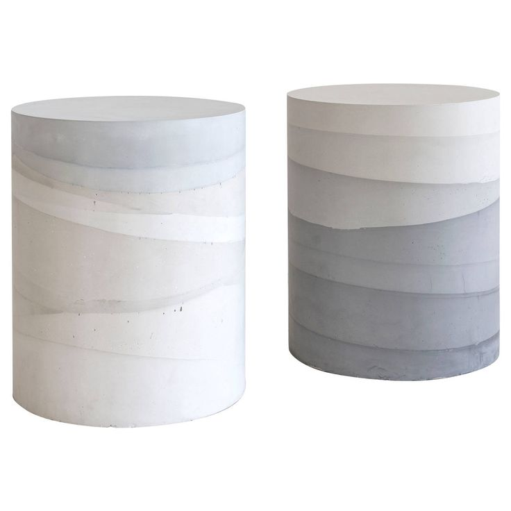 Cement Ombre Drums by Fernando Mastrangelo | From a unique collection of antique and modern stools at https://www.1stdibs.com/furniture/seating/stools/