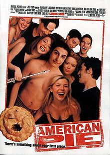 Group picture of the cast. Alyson Hannigan has a flute in hand.