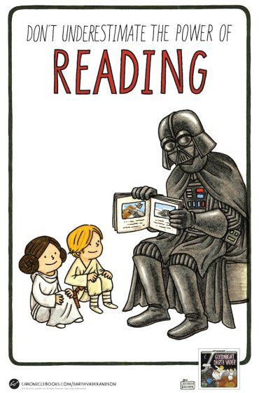 Good Night Darth Vader by Jeffrey Brown. Also check out Vader's Little Princess and Vader and Son.