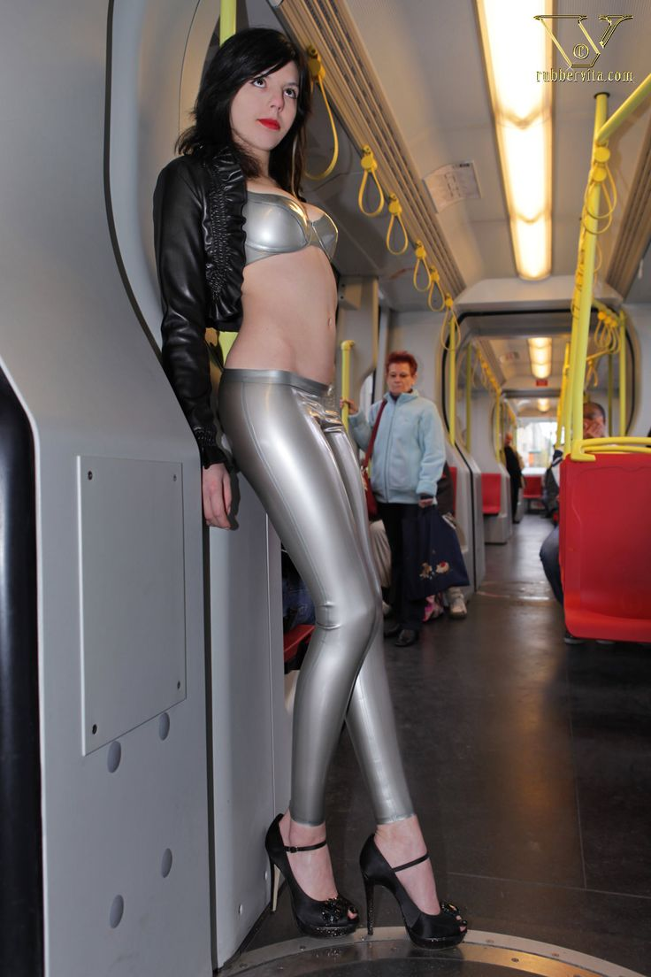 Tight Silver Pants And Heels In Public Hot Sexy