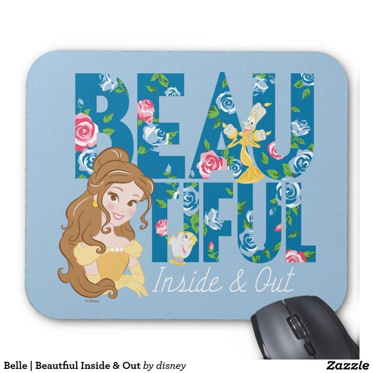 Belle | Beautfiul Inside & Out. Producto disponible en tienda Zazzle. Tecnología. Product available in Zazzle store. Technology. Regalos, Gifts. #Mousepads