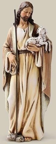 """6 inch Good Shepherd Statue from the Joseph Studio Collection ~ """"I am the Good Shepherd. I know my own sheep, and they know me just as my Father knows me and I know my Father. And I lay down my life for the sheep.""""~ John 11:14-15, statue via inhisname.com"""