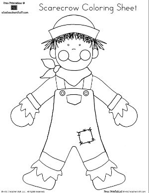 Best 25+ Scarecrow coloring pages free printable ideas on