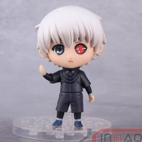 "Tokyo Ghoul- Kaneki Ken Figure Size: 10 cm Limited Time Offer: On Sale + FREE SHIPPING (Limited Stock) Click ""Add To Cart"" To Get Yours! Please allow 7-14 business days for the item to arrive"