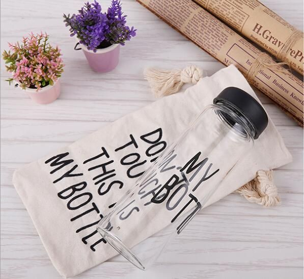dhgate daily deals -50pcs My bottle water Bottle Korea Style New Design Today Special Plastic Sports Water Bottles Drinkware With canvas bag