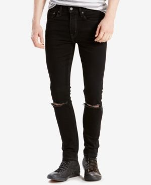 Levi's 519 Extreme Skinny Fit Ripped Jeans - Blue 34x36