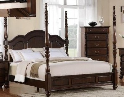 walnut dark georgia tall post traditional style size queen bed frame guest room pinterest queen beds bed frames and traditional - High Bed Frames Queen