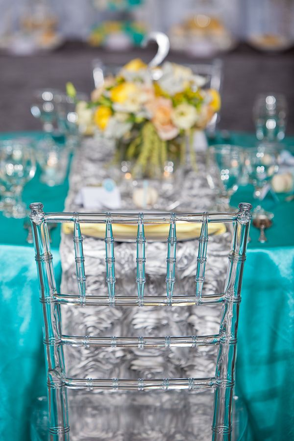 Aqua Yellow Silver Wedding Env Photography I Do Not Want To Know How Much It Cost This Chair