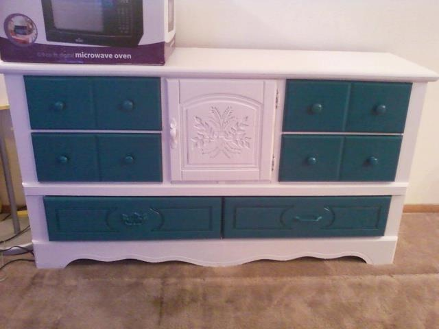 From a beat up pressed wood dresser to a beautiful creation....took