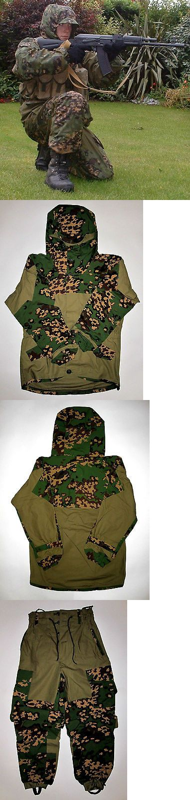Jacket and Pants Sets 179981: Size 54/6 Gorka E Sposn Sso Original Camo Suit Russian Special Uniform Hunting BUY IT NOW ONLY: $76.0