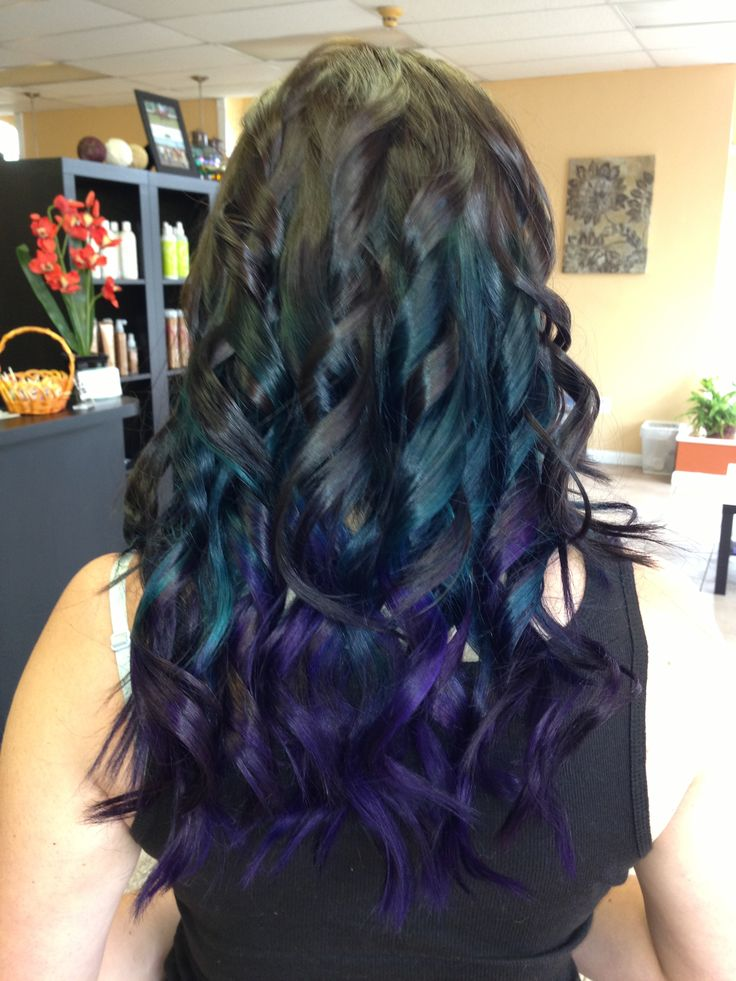 Teal To Purple Ombre Done With Pravana Pop Of Color