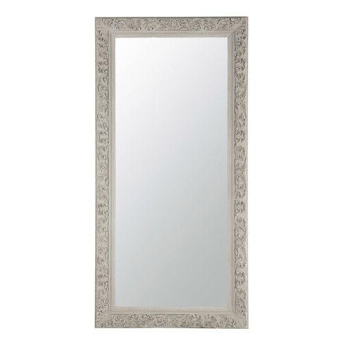 maison du monde miroir en bois beige gris h 180 cm
