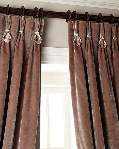 6009 Parker 120L Velvet Curtain With Asfour Crystals | Window, Curtain Ideas  And Bedrooms