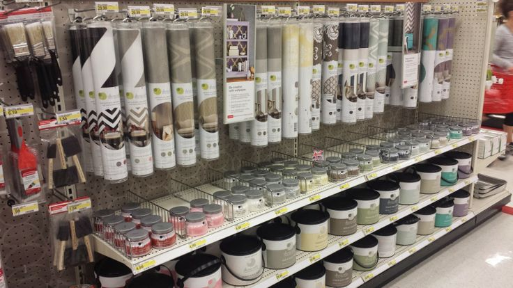 You paid more than me: New at Target: Wallpaper and Paint?